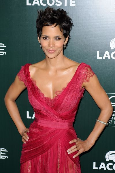 Halle Berry. Pretty much everything about her (physically, anyway) makes me loathe myself. She's Perfection. This always makes me want to cut my hair again, too.