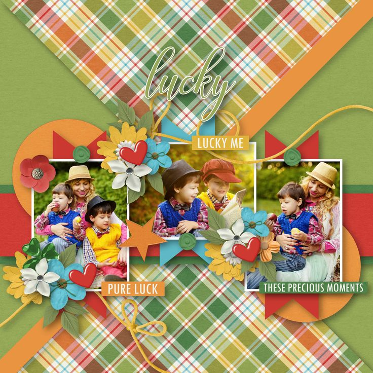 """April Template Challenge by Tinci Designs  (FB Fan Group) - https://www.facebook.com/groups/146212772403089/,  collab """"Lucky To Have You"""" by Blue Heart Scraps and Luv Ewe Designs, http://store.gingerscraps.net/Lucky-To-Have-You-Collab.html, photo Pixabay"""