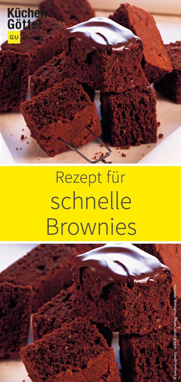 Schnelle Brownies – extraschokoladig