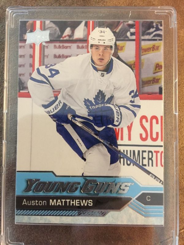 2016 17 Upper Deck Young Guns Auston Matthews Rookie Card