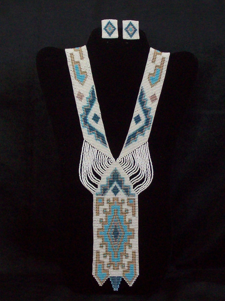 Loom Woven Necklace and Earrings