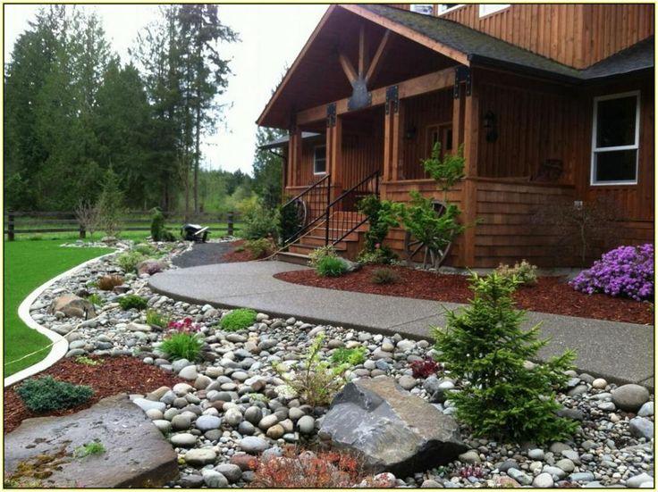 river rock garden design ideas