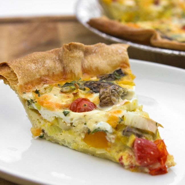 leek, tomato and mushroom quiche | Food | Pinterest