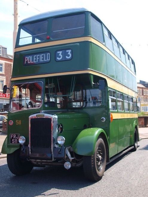 Salford City Transport 1951 Daimler CVG6 with Metropolitan-Cammell bodywork, on the 33 Victoria to Polefield service.
