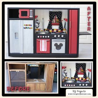 "DIY Kitchen for Christmas with a Disney twist.  Tons of fun to put together.  Can't wait to build some more and share each one with you.  Join us on ""Brightly Street."" www.brightlystreet.com"