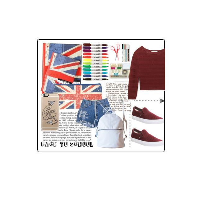 """""""Back to school"""" by lozforlife on Polyvore featuring Anja, Casetify, Kate Spade, Rebecca Minkoff and Vans"""