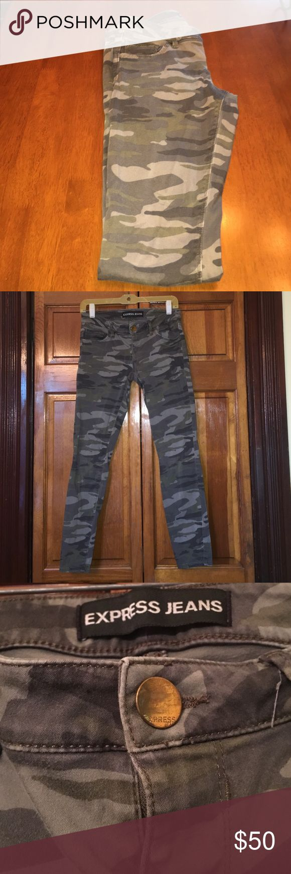 Express camo skinny jeans Express camo skinny jeans, size 2. Only worn a few times. Express Jeans Skinny