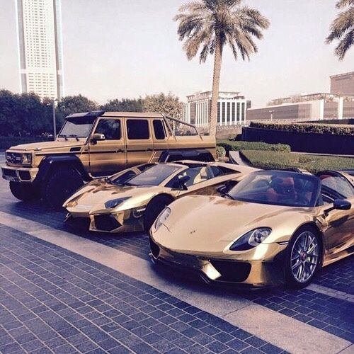 #BlackandGold Luxury Car Collection. Left -> Right | Mercedes-Benz G63 AMG | Lam… – Caitlin Cooper