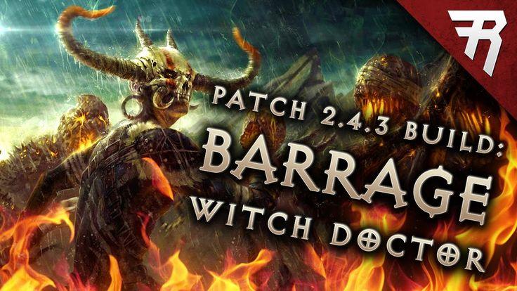 2.4.3 Witch Doctor Spirit Barrage Build - Diablo 3 Reaper of Souls PTR (Season 9) #Diablo #blizzard #Diablo3 #D3 #Dios #reaperofsouls #game #players