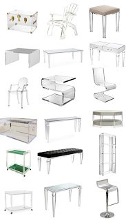 South Shore Decorating Blog: In The Clear (Loving Lucite Furniture!)