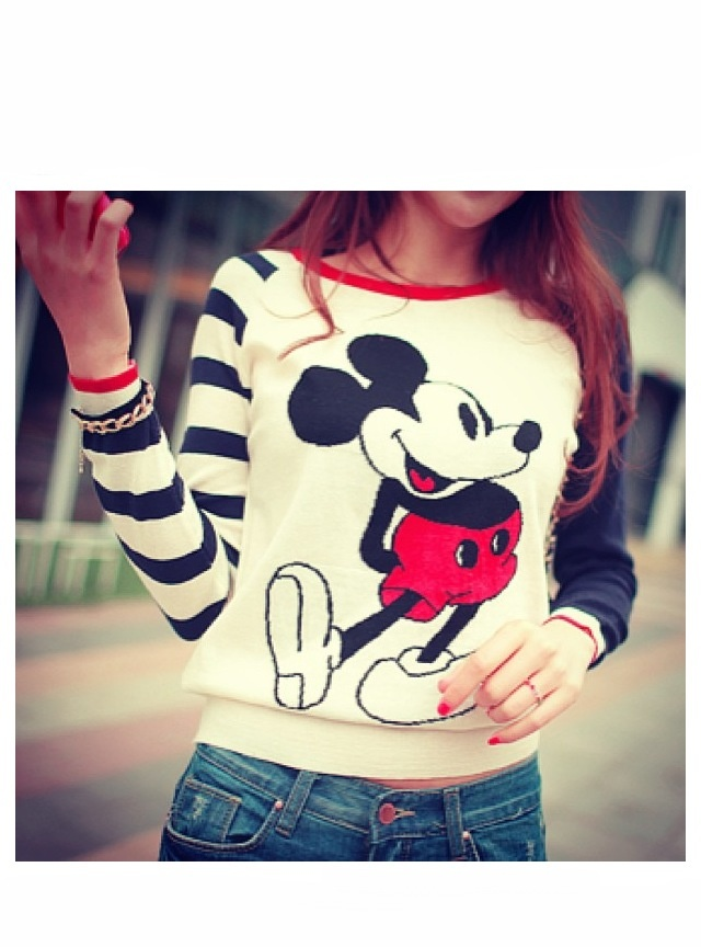 Cute teen clothes I love Mickey Mouse)))) | Teen fashion | Pinterest | Disney Cute sweaters ...