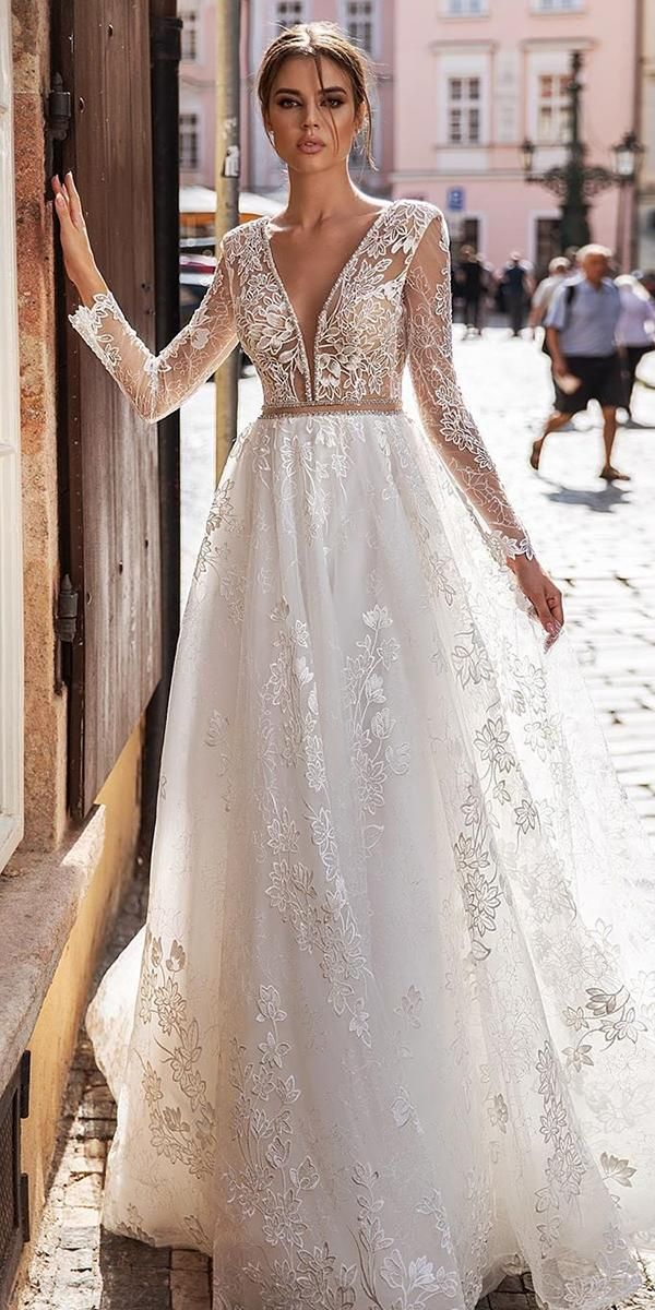 30 Best Lace Wedding Dresses With Sleeves Wedding Dresses Guide Wedding Dresses Lace Wedding Dress With Sleeves Bridal Gown Bohemian