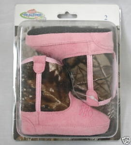 baby camo | Team Realtree Baby Infant Pink Camo Cowboy Boots | eBay