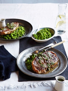 Best of British: Grilled Barnsley chops with crushed peas and mint sauce (recipe)