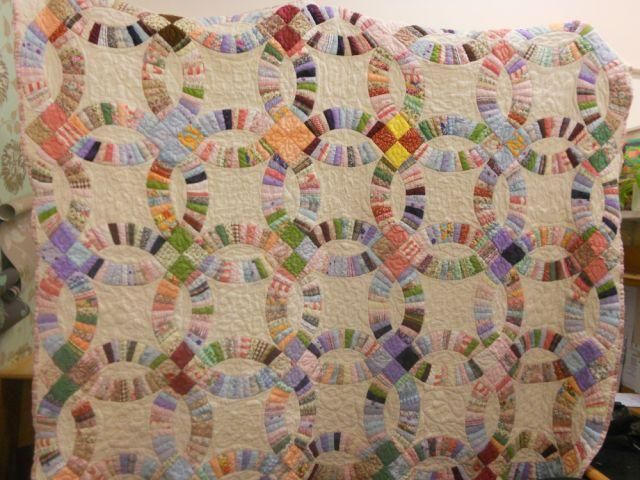 Double Wedding Ring Quilt: Double Wedding Rings, Quilt Bring, Quilts Beautiful, Bring Romance, Quilts Wedding, Dwr Quilts, Double Wedding Ring Quilts, Quilt Pattern