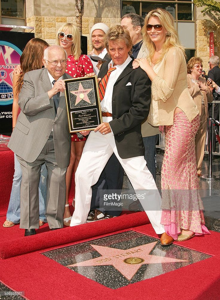 Rod Stewart Honored with a Star on the Hollywood Walk of Fame for ...