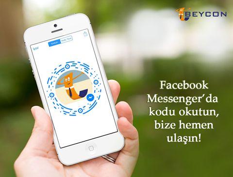 Facebook Messenger'da bu kodu okutarak bize daha hızlı ulaşabilirsiniz!  #Beycon #Facebook