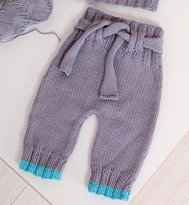Modèle pantalon bébé bicolore