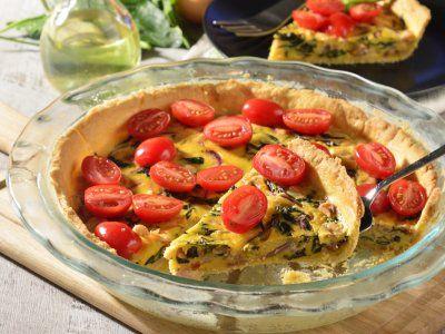 Receta de Quiche Vegetariano con Jitomate Cherry