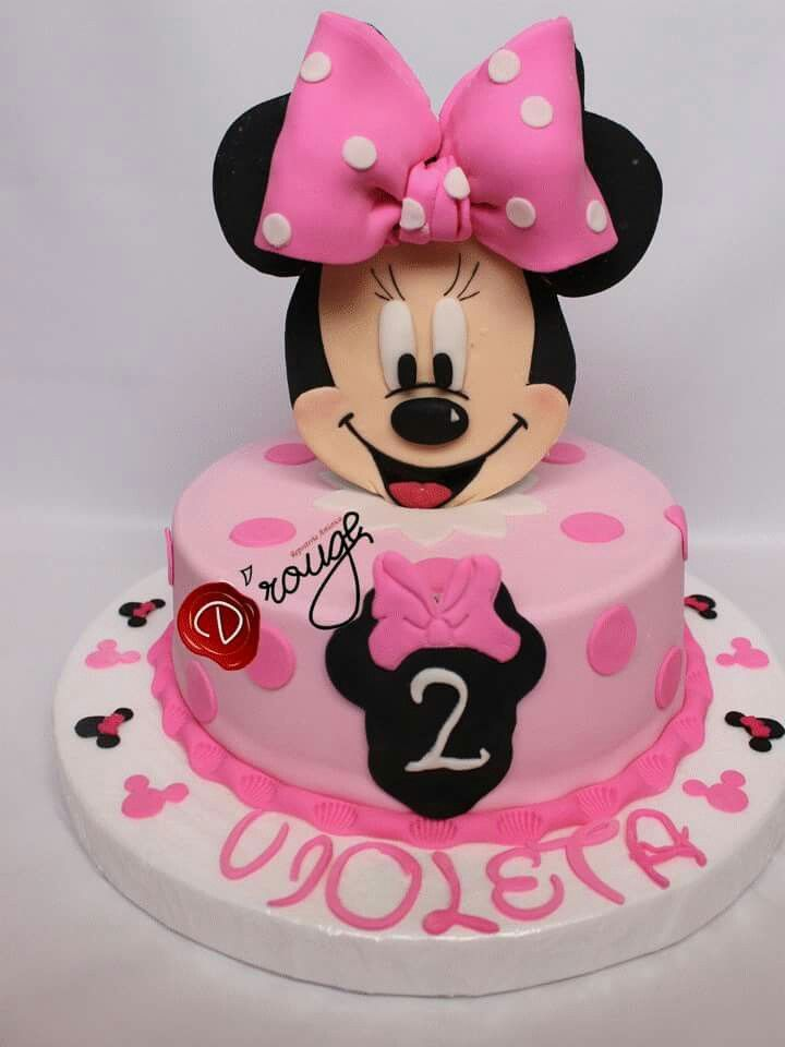 Torta Minnie Mouse 100 % Comestible.