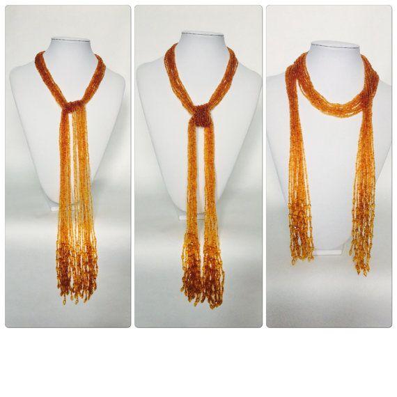 Multi Strand kralen halsketting van de sjaal op door DarkLeiaBijou