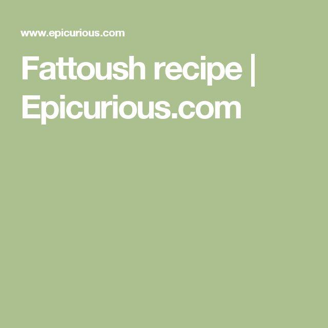 Fattoush recipe | Epicurious.com