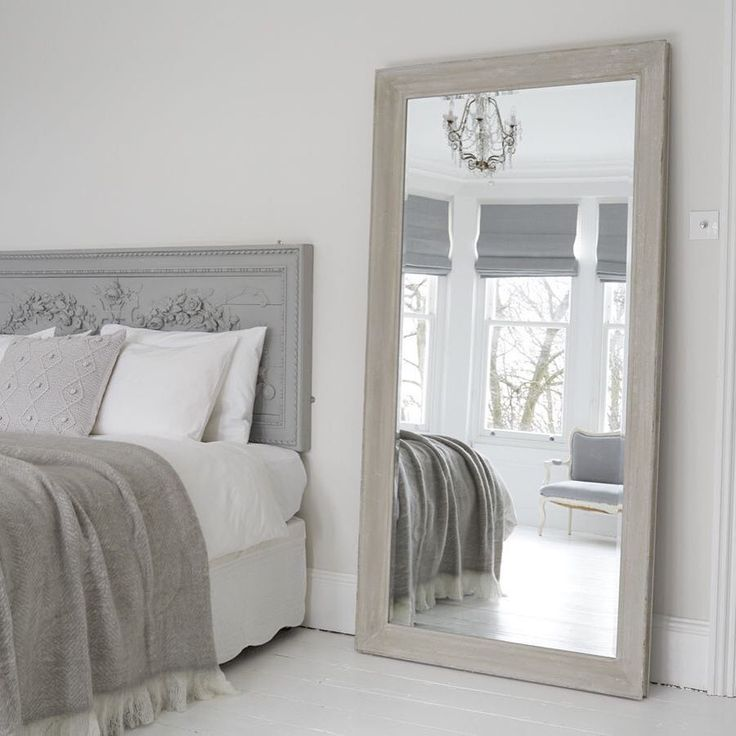 10470 best romantic bedrooms images on pinterest for Large bedroom floor mirror