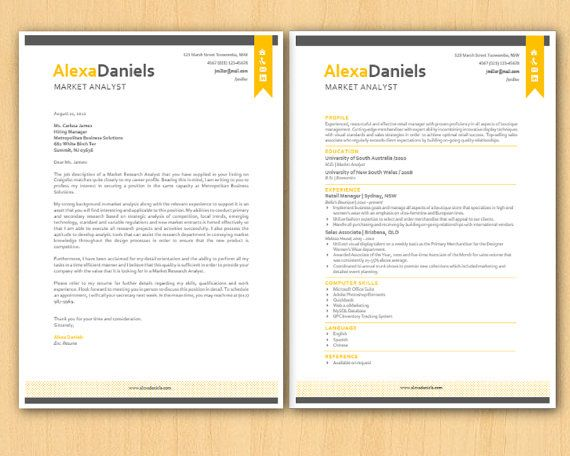 cca letter template - yellow ribbon banner modern microsoft word resume 1 by