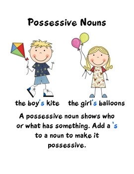 63 best possessive nouns images on Pinterest | Learning resources ...