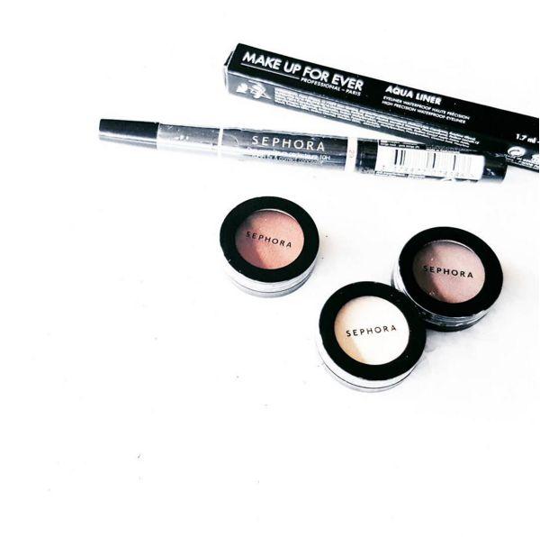 Make Up Forever Aqua Liner  Sephora 10 HR Fix & Correct Concealer 49 TL Hediye farlarımıza da bayıldık. Bu bir Kapak Kızı çekimidir. #sephora #mua #makeup #makeupforever #bblogger #fashion #kapakkizi #beauty