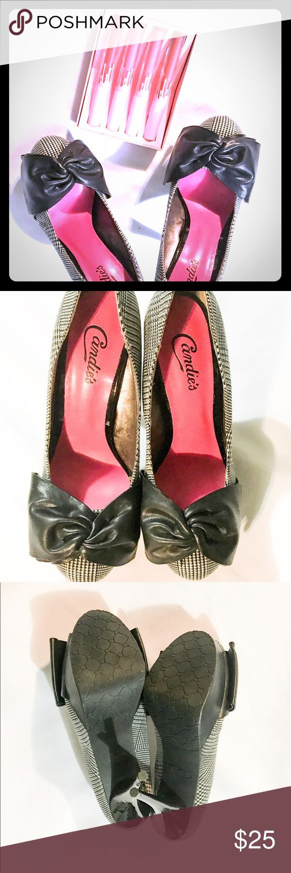Candies Black and White Faux Leather Bow High Heel - 25+ Best Ideas About Black And White High Heels On Pinterest