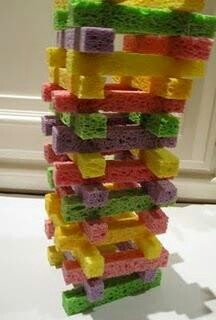 Sponge towers-For children with poor strength, or noise sensitivities