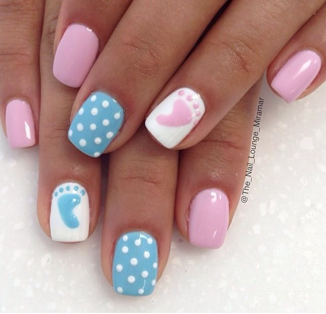 Babyshower nails                                                                                                                                                                                 More