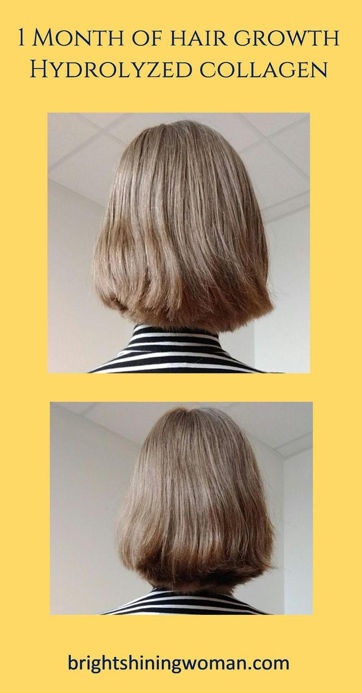 1 month of hair growth, growing hair fast, hair growth with hydrolyzed collagen, fast hair growth, growing long hair, hydrolyzed collagen #hair #collagen