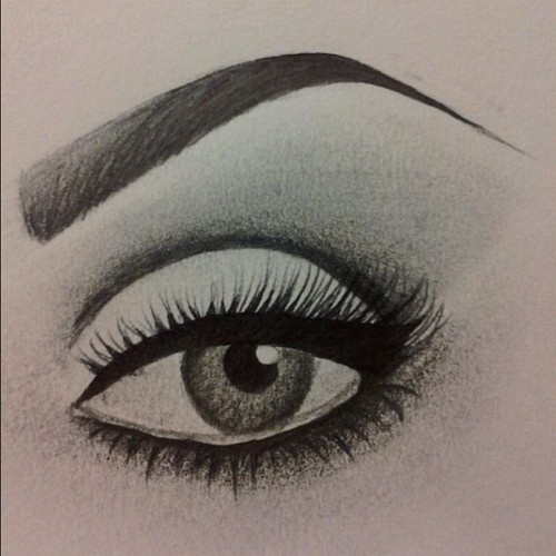 makeup drawing : Painted on Personality: Eyes : Pinterest : Posts ...