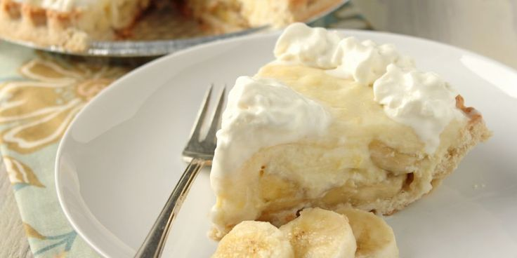 Banana Pie with homemade vanilla pudding: Try mashing in one banana with vanilla and butter. Also let thicken longer, maybe add some flour (since 2% not whole milk)