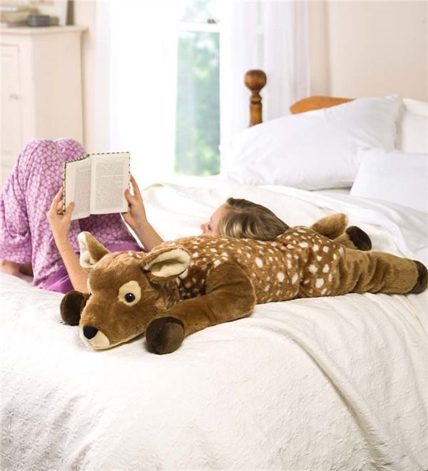 Main Image For Fuzzy Spotted Fawn Body Pillow Baby Gear