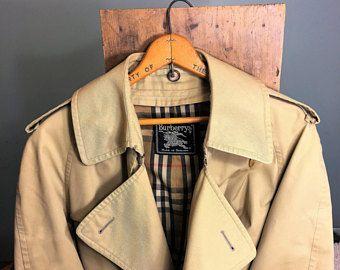 Burberry's XL, Men's Tan Belted Trench Coat Nova Check -    Edit Listing  - Etsy