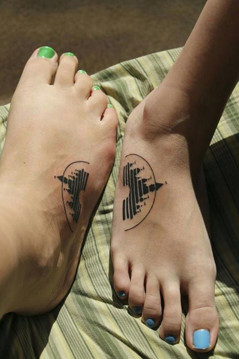 Disney foot tattoo