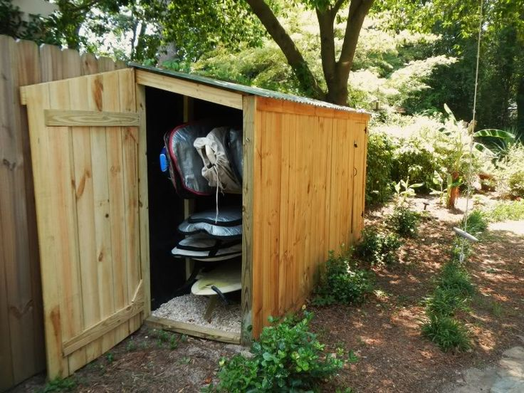 17 best images about storage ideas on pinterest bike for Canoe storage shed