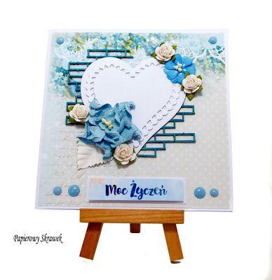 Papierowy Skrawek: Dzień Matki.... na niebiesko