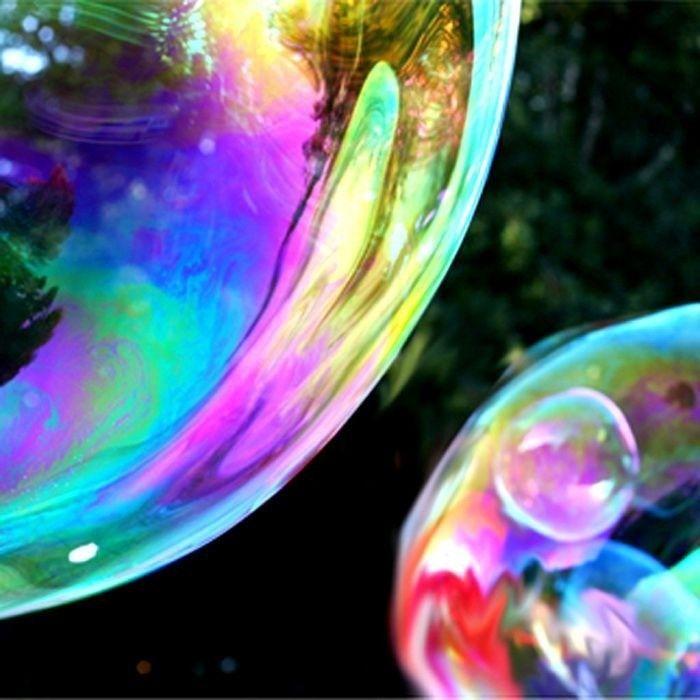 Piękna iluzja , duże bańki mydlane