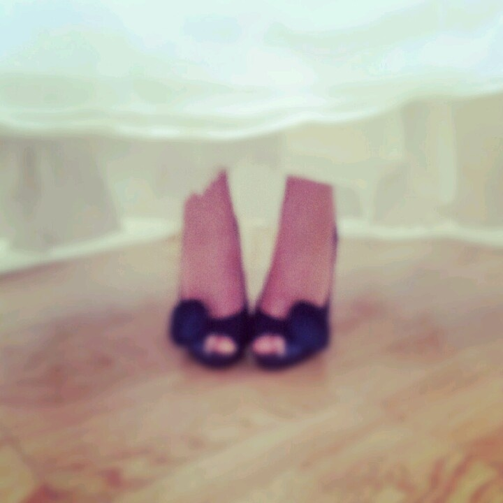 Navy blue wedding shoes :-)