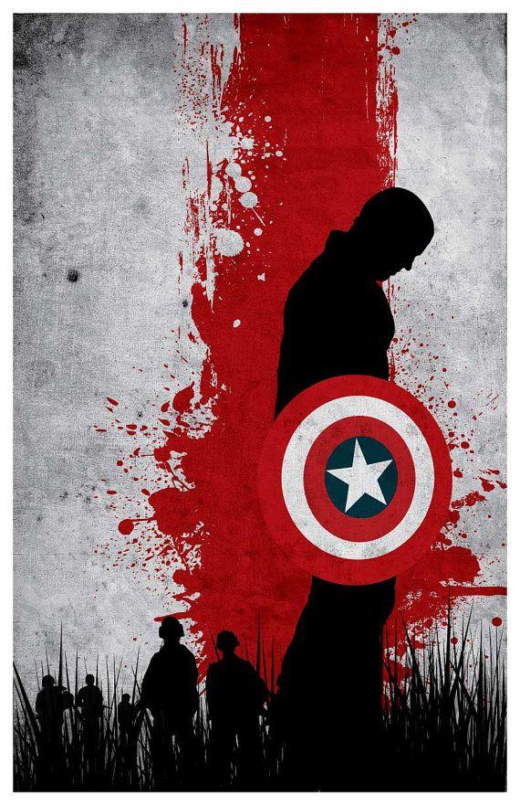 Vintage Avengers Movie Poster Set Captain by MINIMALISTPRINTS