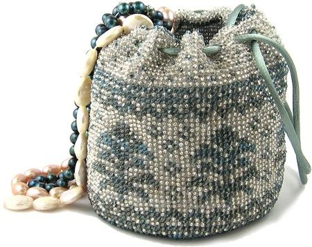 Pineapple Bead Crochet Bag, beadseast kit