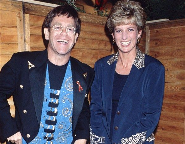 Elton with Princess Diana