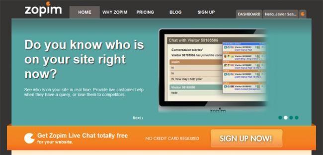Zopim, añade un sistema de soporte mediante chat en tu web  http://www.genbeta.com/p/70292