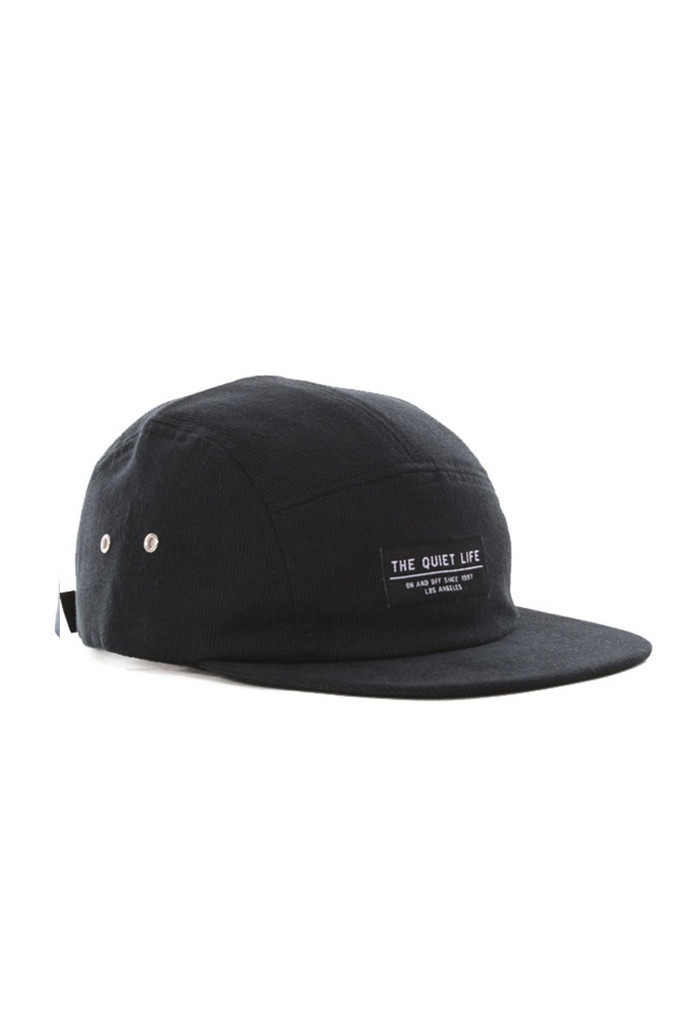 GOOD AS GOLD — Corduroy 5-Panel Hat, black // Indie Clothing Brands & UK Streetwear || AcquireGarms.com