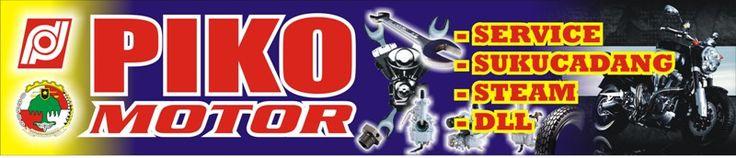 Contoh Banner Bengkel Motor