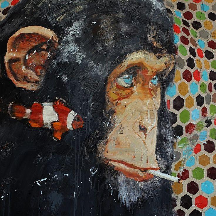 Tor-Arne Moen, 2013.  Advisor | 85x85 cm | Oil on canvas